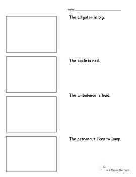 Letter A foldable