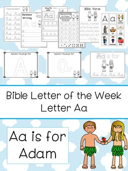 Letter A is for Adam. Bible Letter of the Week.