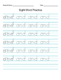 Letter A sight word hand writing practice