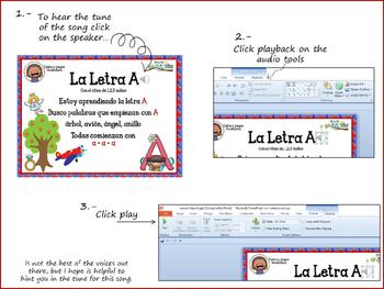 Letter A song in Spanish   Cancion en Español para la letra A