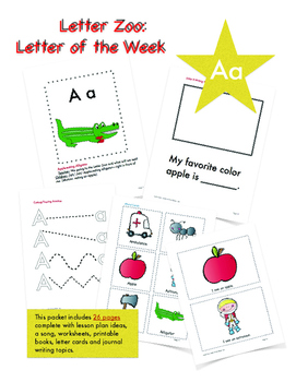 Letter Aa (A is for Apples): Letter Zoo- Preschool Curriculum