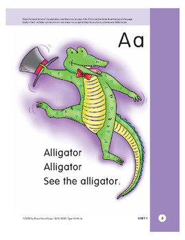 Letter Aa (Alligator)
