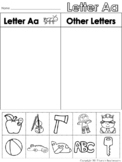 Letter Aa Beginning Sound Sort/Phonemic Awareness
