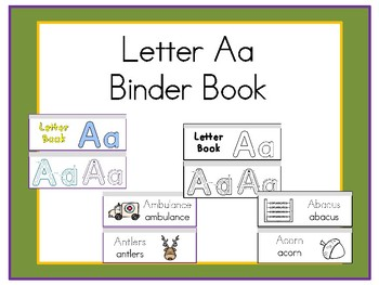 Letter Aa Binder Book