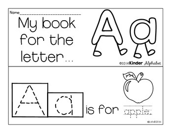 Letter Aa Booklet- Predictable Sentences