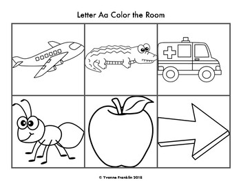 Letter Aa Color, Trace & Write the Room