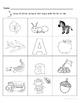 Letter Aa Words Coloring Worksheet