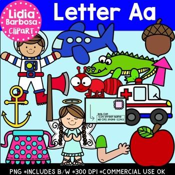 Letter Aa Digital Clipart