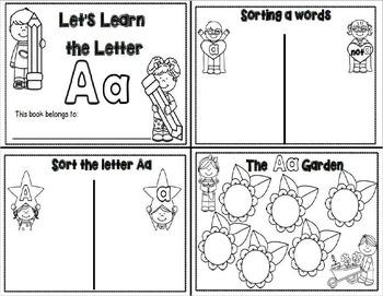 Letter Aa- Interactive Activities Booklet