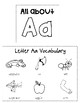 Letter Aa Interactive Notebook