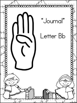 Letter Bb Journal for Toddlers