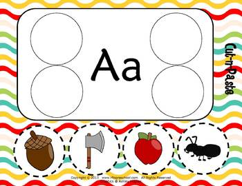 Letter Aa Literacy & Language Activity Center {COMMON CORE ALIGNED}
