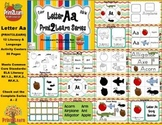 Letter Aa Literacy & Language Activity Center {COMMON CORE