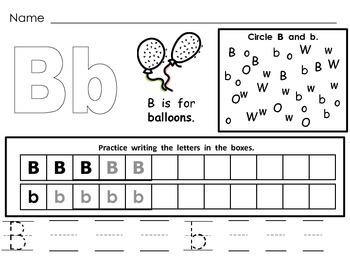 Letter Bb Mega Pack- Kindergarten Alphabet- Handwriting, Little Books, and MORE!