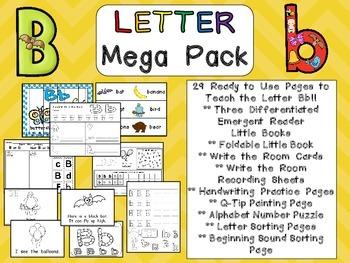 Letter Bb Mega Pack- Kindergarten Alphabet- Handwriting, L