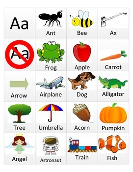Letter Aa Picture Sort