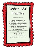Letter Aa Practice Packet