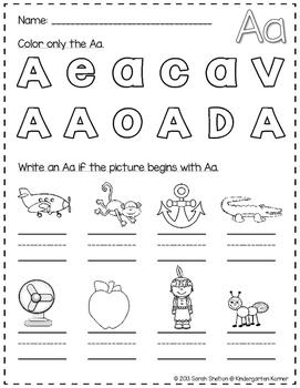 Letter Aa Practice (RTI)