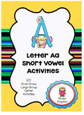 Letter Aa Short Vowel Activities