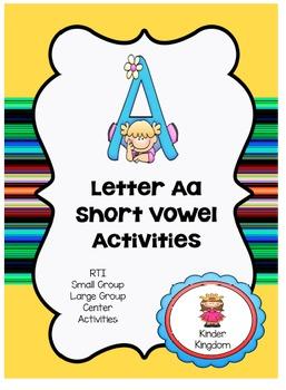 Letter Aa Short Vowel Activities