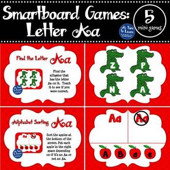 Letter Aa Smartboard Games (5 mini games) (Smartboard/Promethean Board)