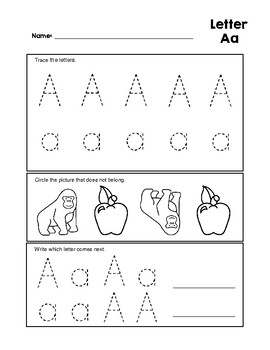 Letter aa tracing practice and patterns worksheet preschoolkindergarten spiritdancerdesigns Images