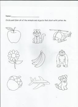 Letter Aa Worksheet