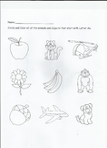 Letter Aa Worksheet