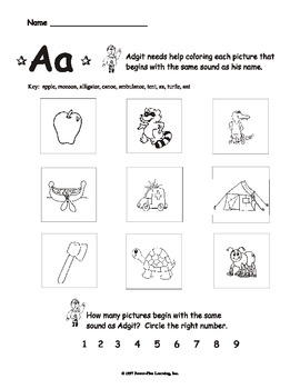 "Letter ""Aa"" - Worksheets"