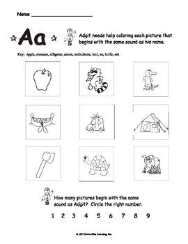 "Letter ""Aa"" - Worksheets"