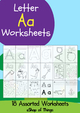 Letter Aa Worksheets Coloring Tracing Phonics Alphabet Dab letter Find letter