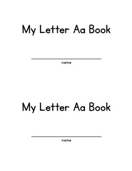 Letter Aa alphabet early reader
