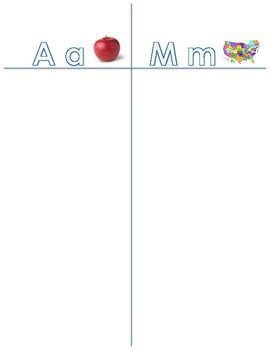 Letter Aa and Mm sort