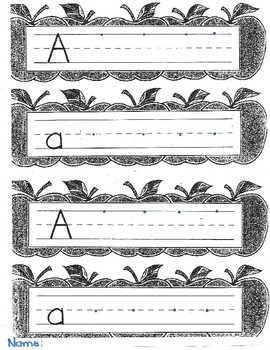 Letter Aa handwriting