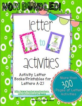 Letter Activities Bundle A-Z