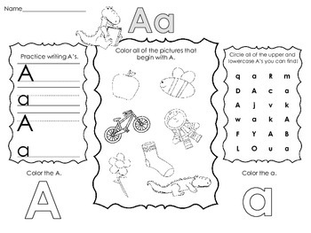 Letter Activities- Letter Sounds, Formation, and Identification