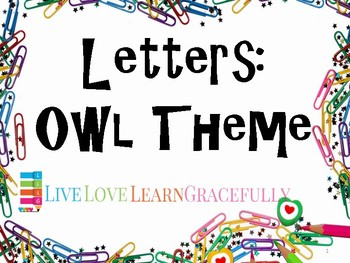 Letter Activities: Owl Theme