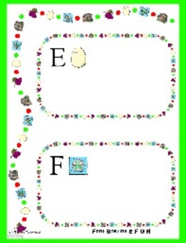 Letter Activity for E F G H - File Folder Font Sort - Preschool Literacy Center
