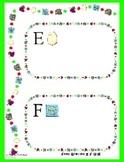 Letter Activity for E F G H - File Folder Font Sort - Pres