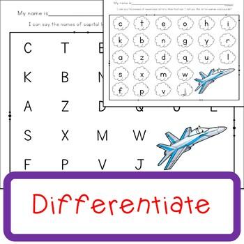 Alphabet Assessment No Prep Worksheets