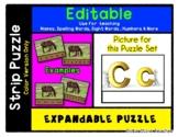 Letter / Alphabet C - Expandable & Editable Strip Puzzle w