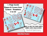 Letter / Alphabet & Number Quarter Page Cards - Canada Day