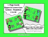 Letter / Alphabet & Number Quarter Page Cards - Community Helpers