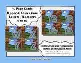Letter / Alphabet & Number Quarter Page Cards - Fall / Autumn