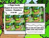 Letter / Alphabet & Number Quarter Page Cards - Forest / O