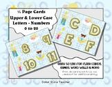 Letter / Alphabet & Number Quarter Page Cards - Good Night