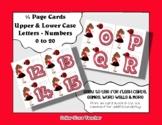 Letter / Alphabet & Number Quarter Page Cards - Lady Bug /