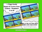 Letter / Alphabet & Number Quarter Page Cards - Ocean Scene