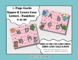 Letter / Alphabet & Number Quarter Page Cards - Pets / Animals