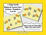 Letter / Alphabet & Number Quarter Page Cards - Pumpkin -